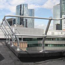 供应用于会所|商场屋面|露台的优质量铝合金护栏批发