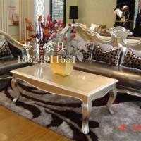 供应郑州 酒店会所售楼处欧式实木沙发定制客厅高档美式新古典沙发简约