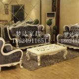 供应郑州欧式布艺沙发高档天鹅绒沙发实木组合贵妃欧式沙发