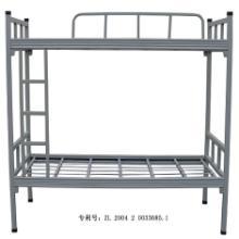 广州上下铺铁架床 广州上下铺铁架床单人双层铁床50管灰白色上下铺铁床批发