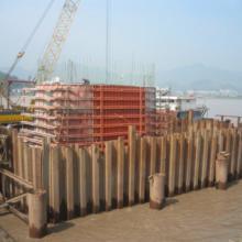 供应用于桥梁建设的福建福州拉森钢板桩施工工程 专业承包拉森钢板桩围堰工程  钢板桩打拔工程图片