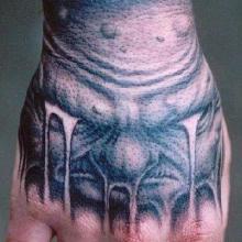 供应欧美风格纹身图案青岛手上纹身图案