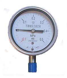 供应YZ-60B/100B/150B不锈钢压力真空表YZ-B不锈