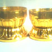 蜡烛配件圆杯底座七彩缘包装图片