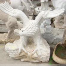 供应福建动物石雕老鹰 石雕工艺品 龙年寓意 送礼自用佳品