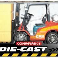 高仿费舒合金装卸堆高工程车模型图片