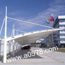 金華膜結構車棚價格、汽車車棚安裝設計報價、商務時尚遮陽車棚圖片