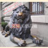 供应铜雕汇丰狮雕塑铸铜狮定做厂家