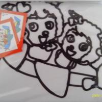 供应烤胶画彩绘画儿童手工画