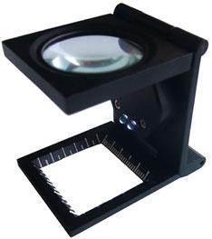 折叠式放大镜带刻度10X22LED金属