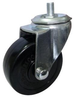 脚轮万向轮3寸丝杆式橡胶脚轮图片/脚轮万向轮3寸丝杆式橡胶脚轮样板图 (3)