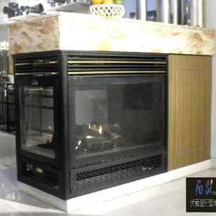 伏羲巴比龙3面观景燃气真火壁炉图片
