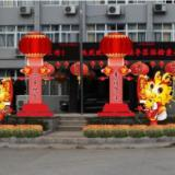 供应城市景点装饰设计搭建 狗年吉祥温州城市景点装饰设计搭建