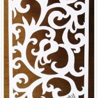供应J06雕花板/PVC镂空板/背景墙/隔断