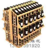 供应5J红酒木箱/红酒木展架/订制
