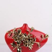 供应甜密密装饰摆设饰品 骨瓷花瓶 高档家居饰品 日用陶瓷 外贸陶瓷