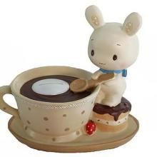 供应咖啡咪兔储钱罐,咪兔储钱罐,搪胶咪兔静态储存罐