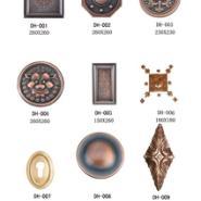 河南铜门花件 铜门板材 铜花图片