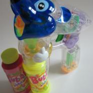 透明带灯光大米奇双瓶水玩具泡泡枪图片