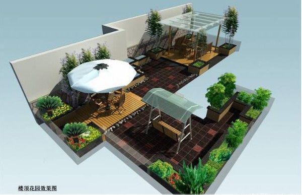 供应郑州专业做楼顶花园风水景观设计图片