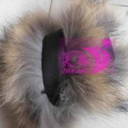貉子毛袖口狐狸毛袖口皮草服装服饰图片