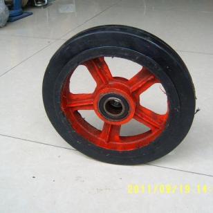 10寸橡胶单轮图片