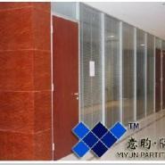 重庆双玻百叶隔断双层玻璃隔断图片