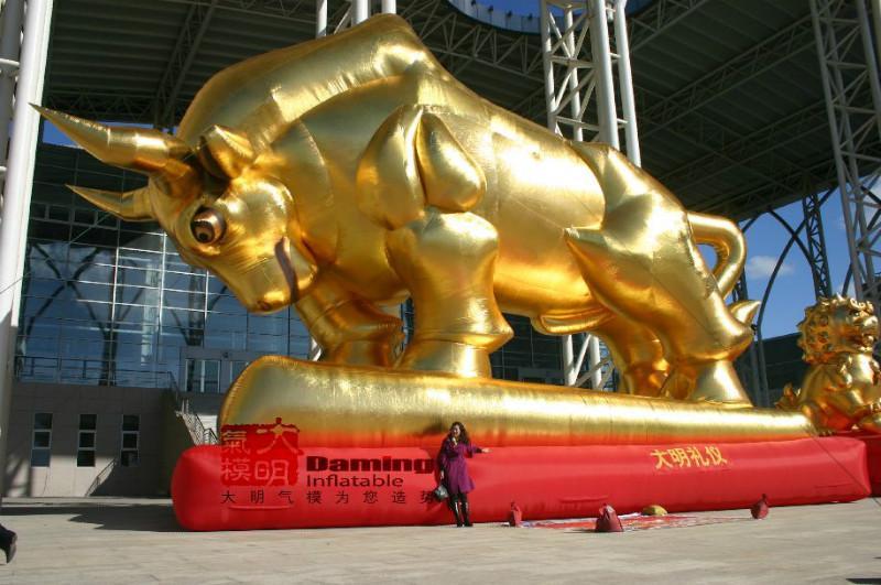 供应充气气模富贵金牛,金牛气模生产,动物气模制作,卡通气模直销