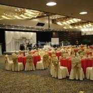 天津空港布草餐厅台布酒店窗帘图片