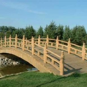 湖南长沙防腐木桥图片