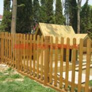 安化防腐木护栏图片