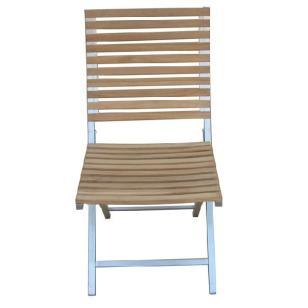 不锈钢折叠椅配柚木图片