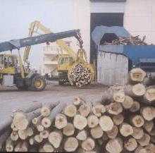 供应林纸一体化抓木机木材卸车喂料码垛图片