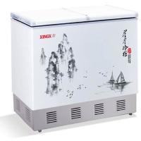 供应星星冰柜冷柜冰箱水墨蝴蝶门冷柜BD/BC-170FH/200FH