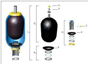 供应日本注塑机10L-20L氮气囊