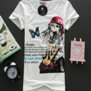 东莞服装批发男生春装纯棉短袖T恤图片