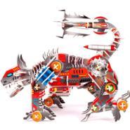 机械狗立体拼图图片