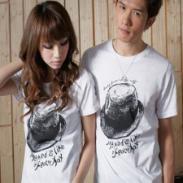 常州韩版情侣装T恤批发图片
