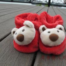 供应外贸取样鞋子学步鞋 红色小熊熊婴儿鞋 直套保暧学步鞋 品种多样