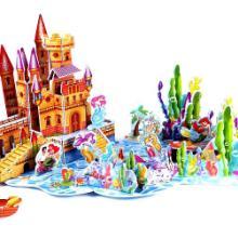 供应DIY益智玩具拼图3D立体纸拼图拼版建筑拼图批发
