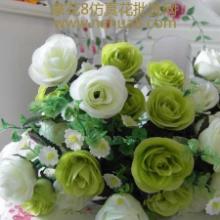 供应10头小玫瑰仿真花批发-绢花批发批发