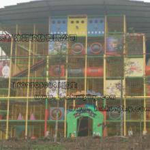 贵州公园超大型非标滑梯玩具厂家定制,四川投资项目高空小勇士乐园, 重庆涪陵亲子园图片