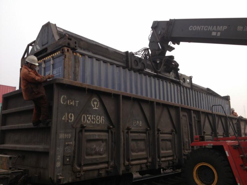 天津到哈萨克斯坦Zashita扎西塔713007铁路集装箱车皮运输