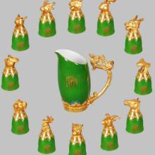 供应十二生肖酒杯 玉石酒杯 白酒杯 陶瓷酒具 会销礼品