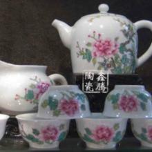 供应粉彩茶具-瓷器茶具-景德镇花卉茶具批发