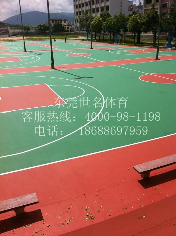 供应广州露天蓝球场漆厂、标准网球场哪种类型造价最便宜?网球场地坪漆
