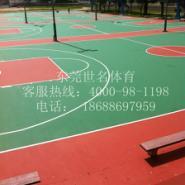 羽毛球场地板喷油漆图片