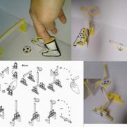 EVA桌面手指足球篮球橄榄球拼装图片