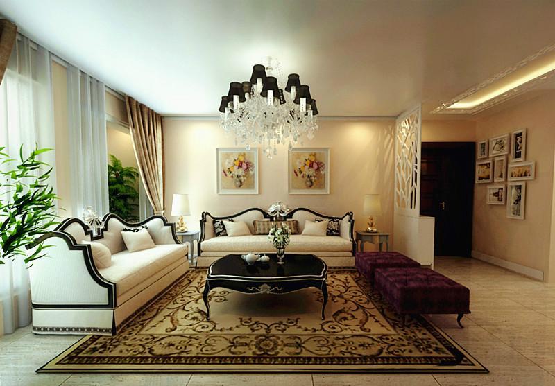 大河龙城90平三居室装修效果图图片 大河龙城90平三 高清图片