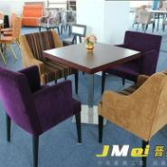 上海金属脚西餐桌实木软包西餐椅图片